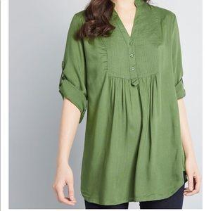 Green Cotten Tunic